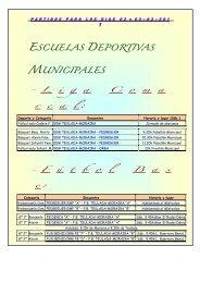 escuelas deportivas municipales - Ayuntamiento de Teulada-Moraira