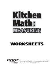 Kitchen Math W - Learning Zone Express