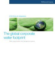 The global corporate water footprint - McKinsey & Company