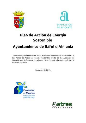 Plan de Acción de Energía Sostenible Ayuntamiento de Ráfol d ...