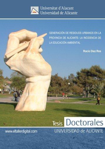 Generación de residuos urbanos en la provincia de Alicante - RUA ...