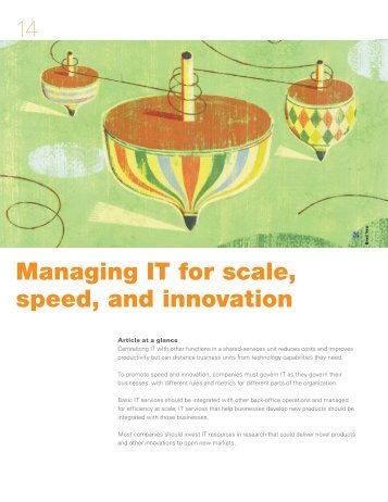 Managing IT for scale, speed, and innovation - McKinsey & Company
