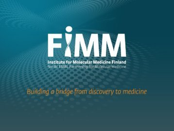 FIMM High Throughput Biomedicine Unit - European Cell-based ...