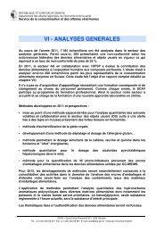 VI Analyses générales - Etat de Genève