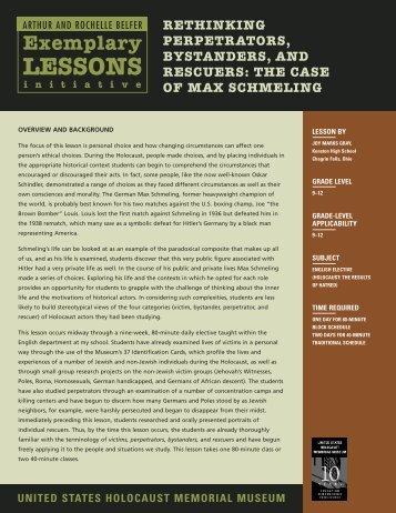 Belfer Lesson 5 - United States Holocaust Memorial Museum