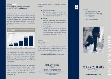 D&O Versicherung - Marx & Marx