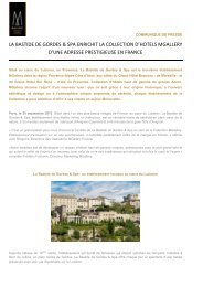 La Bastide de Gordes and Spa enrichit la - Accor