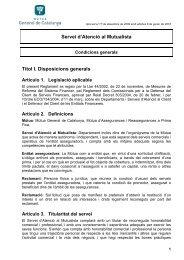 reglament regulador del servei - Mútua General de Catalunya