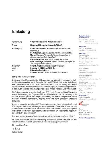 Einladung - Marketing-Club Potsdam e.V.