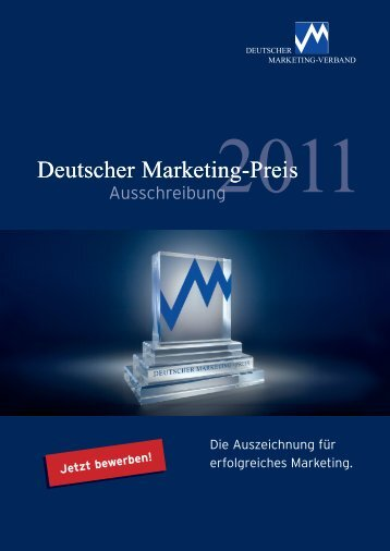 Ausschreibung 2011 - Marketing-Club Potsdam e.V.