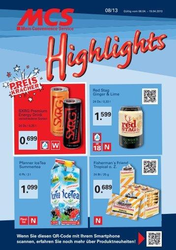 Highlights 08/2013 - MCS Marketing und Convenience-Shop ...