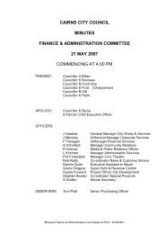 Finance & Administration meeting Minutes 21 May 2007