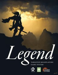 LEGEND SYSTEM - Rule Of Cool RPGs