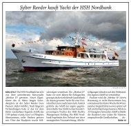 Sylter Reeder kauft Yacht der HSH Nordbank - Adler Schiffe