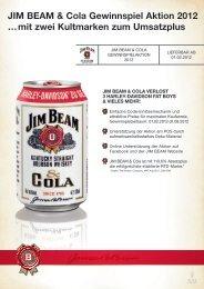 JIM BEAM & Cola Gewinnspiel Aktion 2012 …mit zwei Kultmarken ...