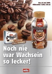 Salesfolder Müllermilch Coffee
