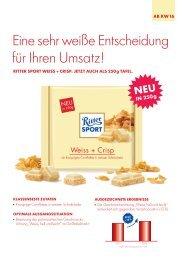 Ritter Sport Weiss + Crisp 250-g-Tafel
