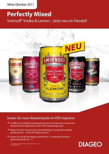 können Sie den Smirnoff Vodka Lemon Salesfolder