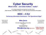 Cyber Security - National Defense Industrial Association San Diego ...