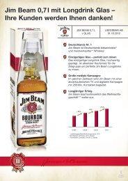 Jim Beam 0,7 l mit Longdrink Glas – Ihre Kunden werden Ihnen ...