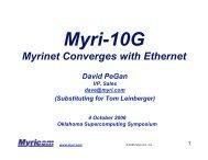 Myrinet Converges with Ethernet - Oklahoma Supercomputing ...