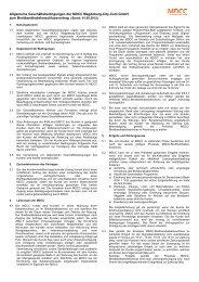 Allgemeine Geschäftsbedingungen MDCC-Breitbandkabelanschluss
