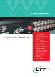 LTT Transientenrecorder. Kompakt. Schnell. Multifunktional. - MDI ...