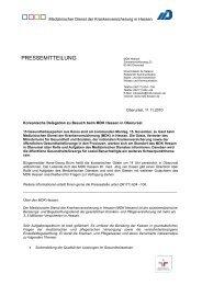 Pressemeldung vom 11.11.2010 (pdf) - MDK-Hessen