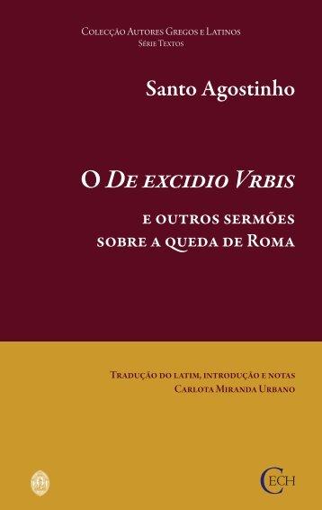 De Excidio Urbis e outros Sermões - Universidade de Coimbra