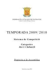 TEMPORADA 2009/ 2010 - Federació Catalana de Patinatge