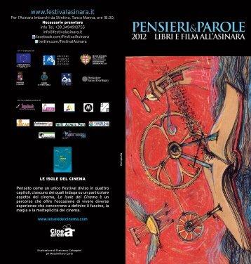Pieghevole con programma Festival Pensieri e parole 2012