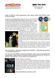 spettacolo teatrale 25 febbraio + programmazione ... - IDEA RADIO