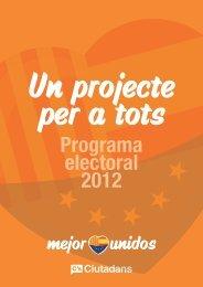 Programa electoral 2012 - Fundació per la Pau