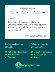 Iatrogenic dissection of the right coronary artery ... - edigraphic.com