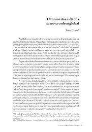 O futuro das cidades na nova ordem global - Cebela