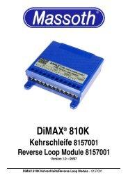 DiMAX® 810K Kehrschleife 8157001 Reverse Loop ... - Massoth