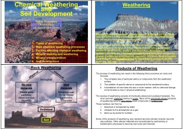 Chemical Weathering and Soil Development