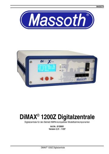 DiMAX® 1200Z Digitalzentrale - Massoth