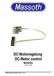 DC-Motorregelung DC-Motor control 8410101 - Massoth