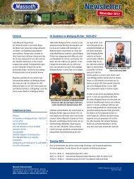Newsletter - Massoth