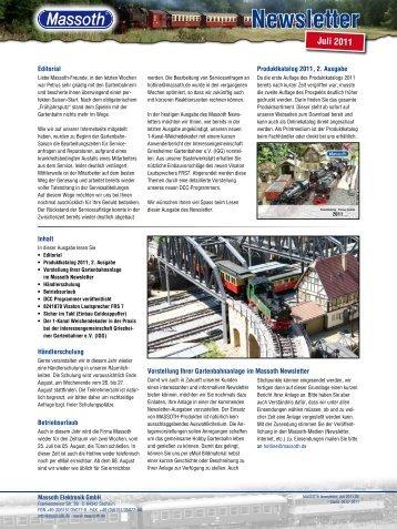 MASSOTH Newsletter, Juli 2011