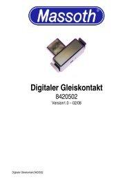 Digitaler Gleiskontakt - Massoth