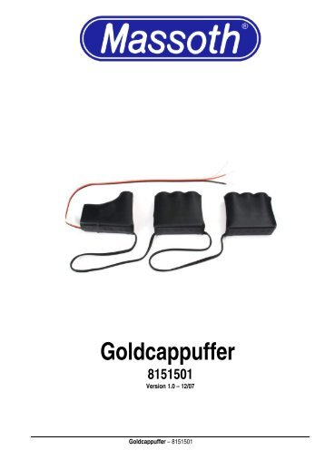 Goldcappuffer 8151501 - Massoth