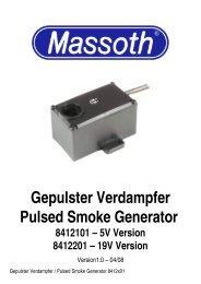 Gepulster Verdampfer Pulsed Smoke Generator - Massoth
