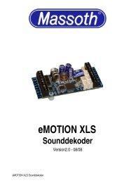 eMOTION XLS Sounddekoder - Massoth