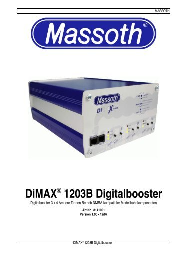 DiMAX® 1203B Digitalbooster - Massoth