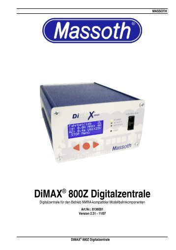 DiMAX® 800Z Digitalzentrale - Massoth