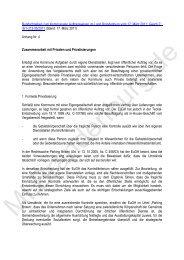 Anhang 5: Zusammenarbeit mit Privaten und Privatisierungen