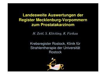 Landesweite Auswertungen der Register Mecklenburg-Vorpommern ...