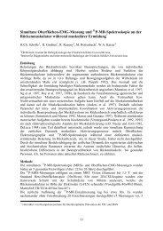 Simultane Oberflächen-EMG-Messung und P-MR-Spektroskopie an ...